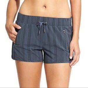 ATHLETA Blue Stripe Sway Shorts XS